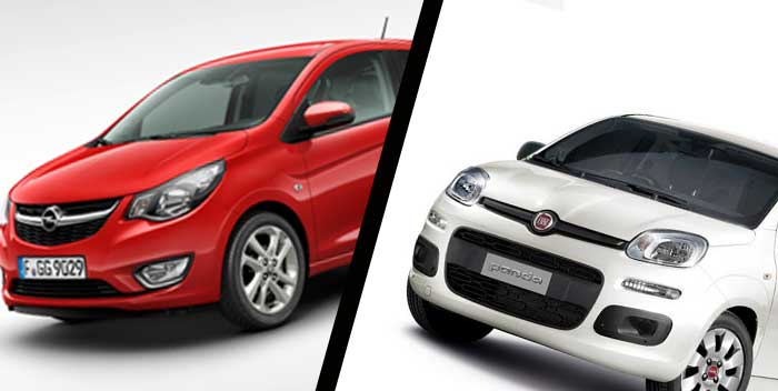 Opel Karl vs Fiat Panda, le due citycar a confronto